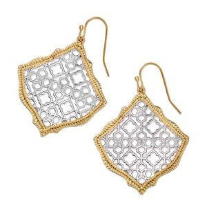 Kendra Scott Two-Tone Kirsten Filigree Earrings